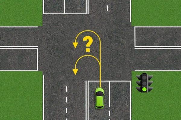 Разворот на перекрестке со светофором. Правила разворота на перекрестке
